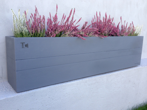 Grey planter box